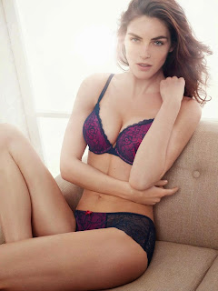 Hilary Rhoda flaunting toned physique in cotton lace micro fabric designs Lindex 2014