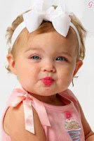 Cute Baby With White Pink Lips & Dress Kids Images