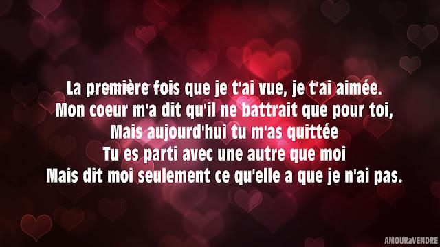 poème d'amour ex