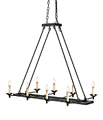 NEW! Linear Iron Chandelier!