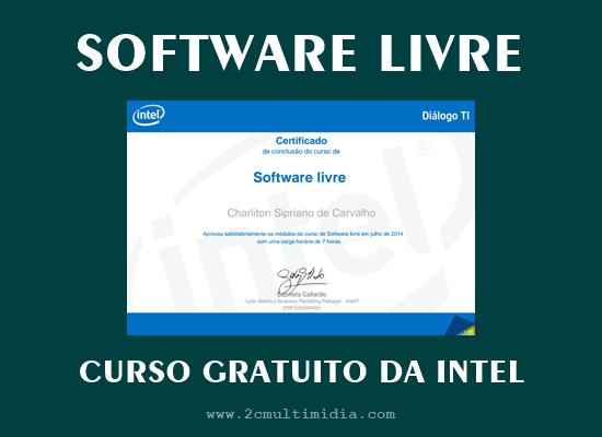 Curso grátis com certificado de Software Livre