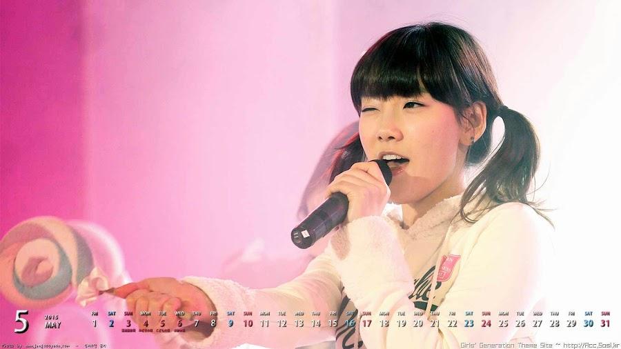幼い少女時代テヨンの2015/05カレンダー