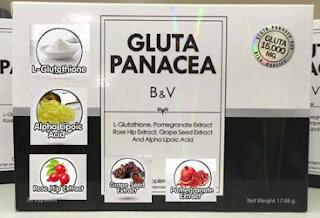 komposisi dan kandungan gluta panacea