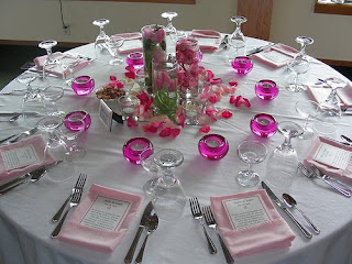 Pink Wedding Table Centerpieces Decorations