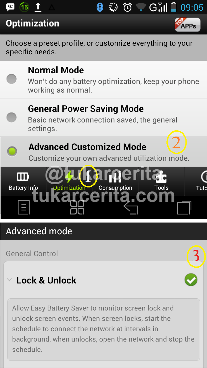 Setting Layar Locked pada Easy Battery Saver Android