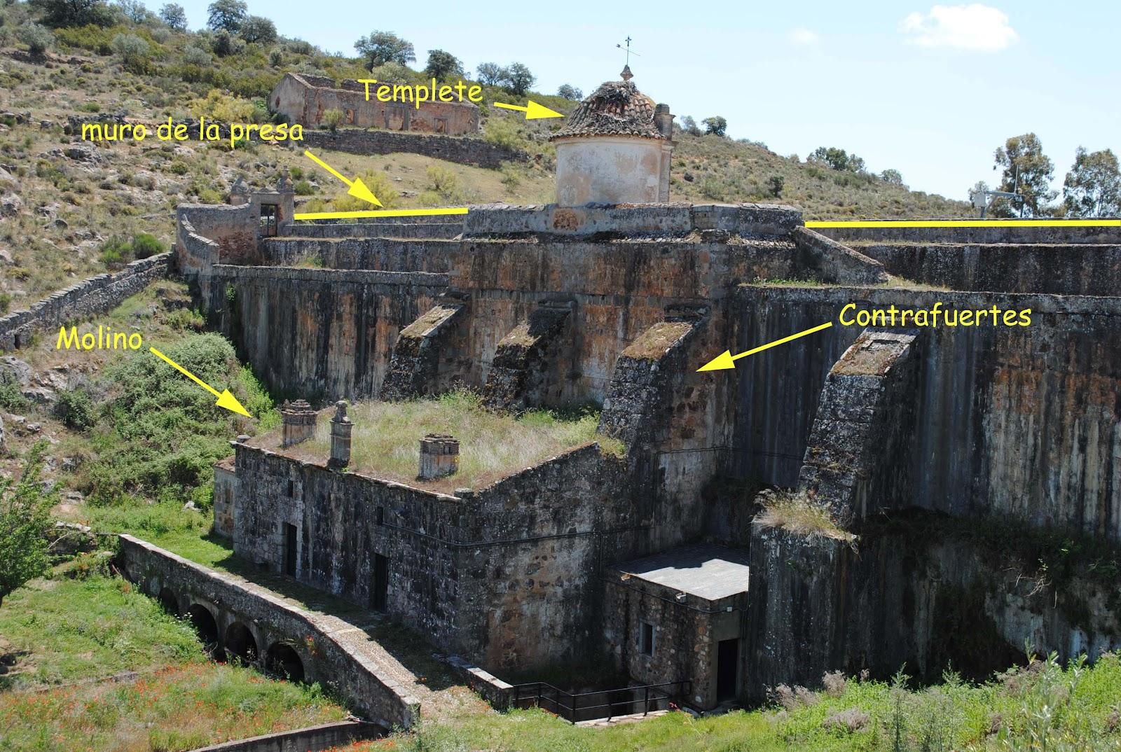 Dam On The Ortigas River Presa Sobre El Rio Ortiga Art