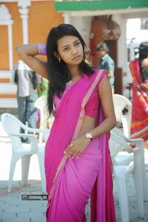 Neha-Priya-Stills-in-Saree-at-College-Kurralu-Movie-Launch