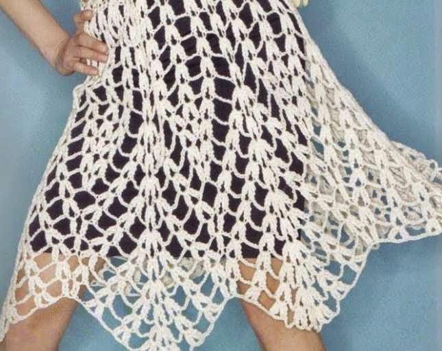Falda de Puntas a Crochet
