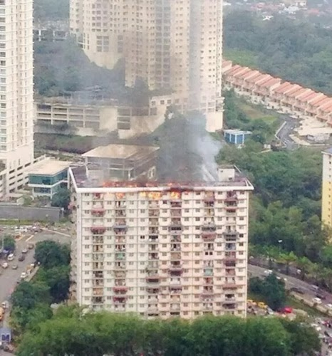 Flat PKNS, Jalan Kerinchi Hangus, Flat PKNS, Jalan Kerinchi terbakar, flat pkns terbakar