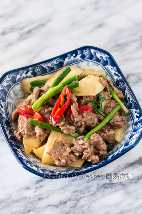 淮山炒牛肉 Stir Fried Chinese Yam with Beef01