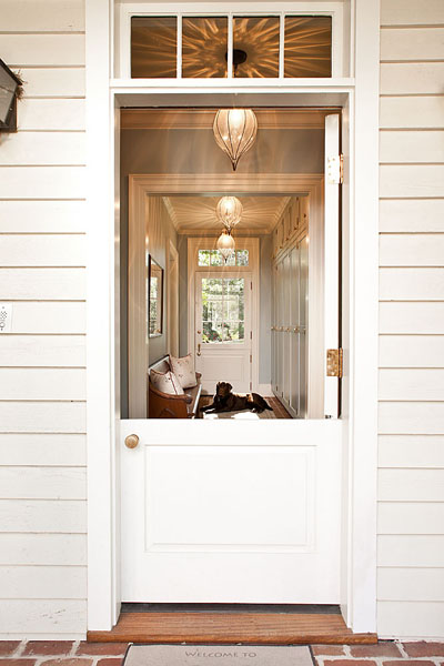 It Was A Bit Like This Beautiful Dutch Door. Our Basement Door Had The  Lower Half Only And Was Not Painted. It Was Secure And Nice Looking, ...