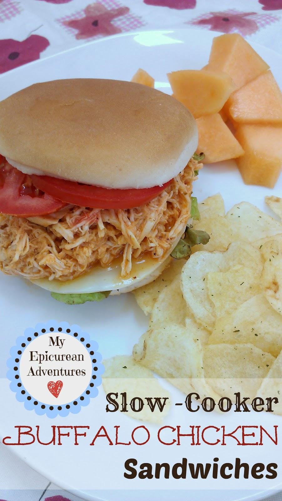 ... Epicurean Adventures: Slow-Cooker Shredded Buffalo Chicken Sandwiches