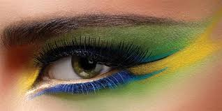 Hot Yellow Green Eye Makeup