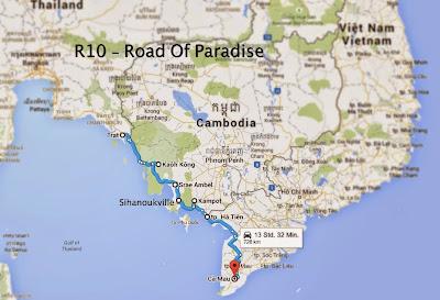 Strasse entlang der Küste des Golf von Thailand