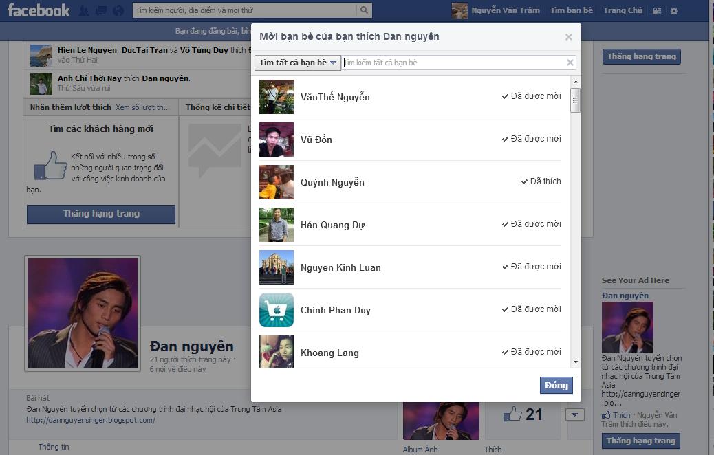 Cách mời tất cả các bạn bè like fanpage Facebook mới nhất