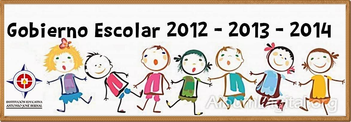 Gobierno Escolar 2012 - 2013 - 2014