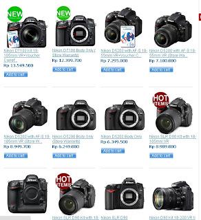Daftar Harga Kamera Digital SLR Murah Nikon Juli 2013