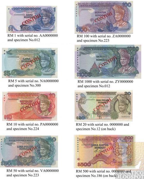 5 MALAYSIA SET OF THREE 1 20,50,100 RINGGIT BRILLIANT BIZY 10