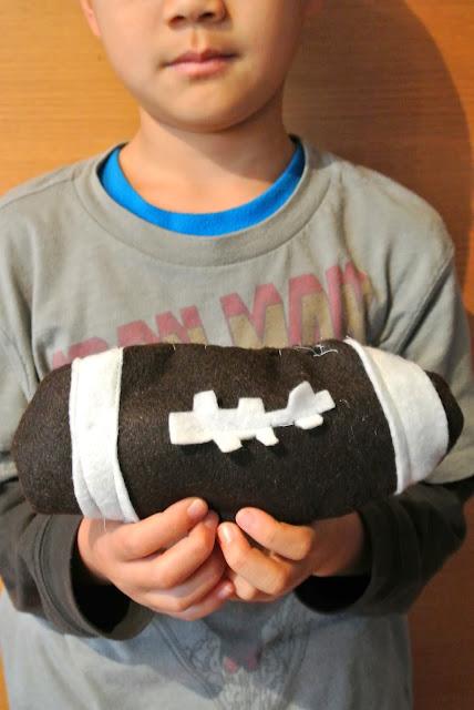 Kid Sews Football