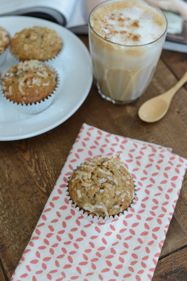 banana and coconut muffin recipe via M Loves M @marmar