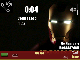 IronMan Theme for BlackBerry