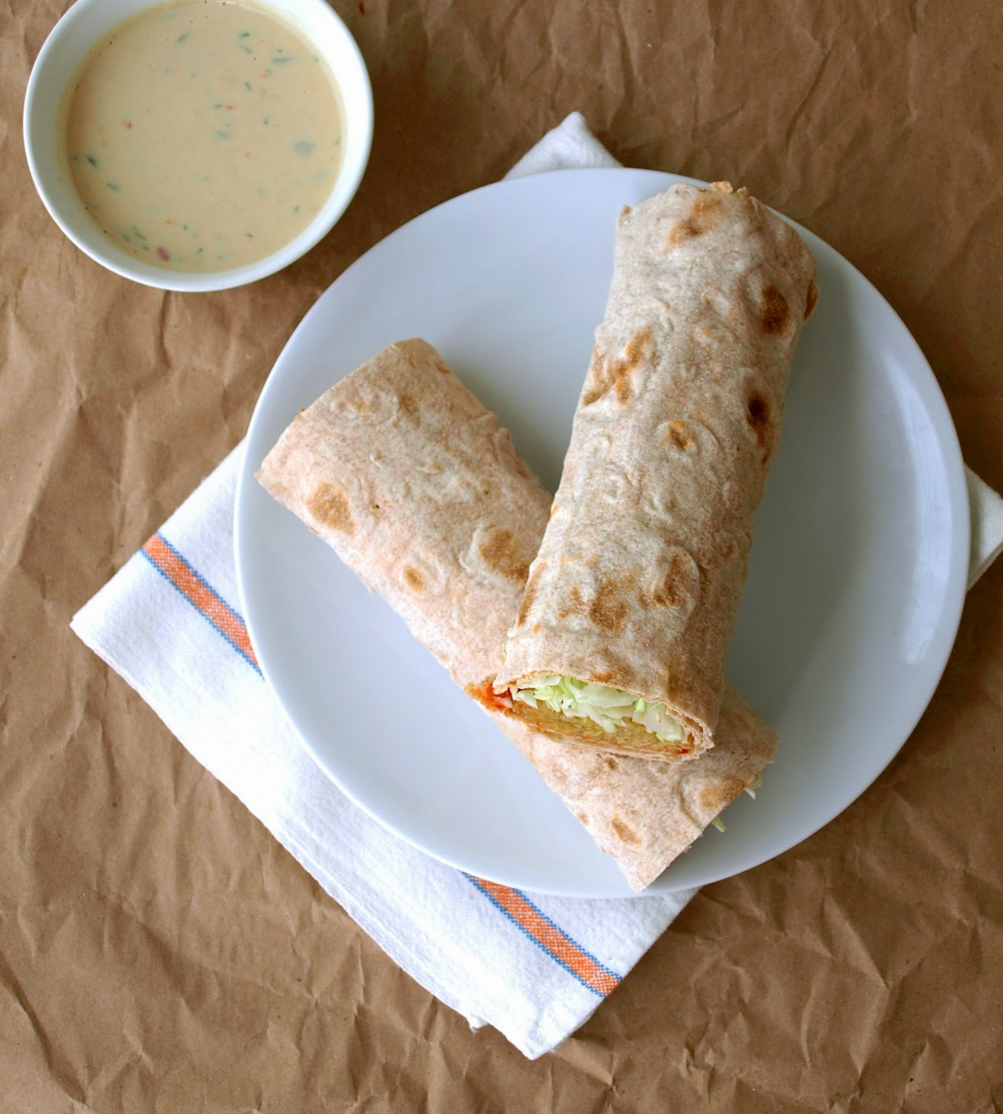 ... SIMPLE VEGANISTA: Spicy Lentil & Quinoa Wraps with Spicy Tahini Sauce