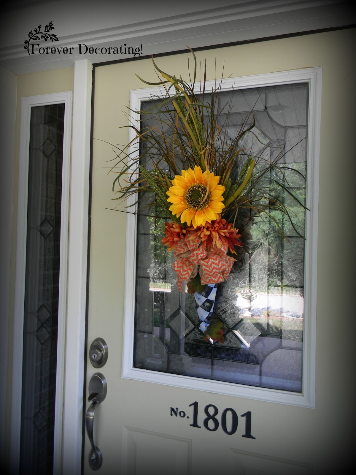 Forever decorating quick fall door decor for Decor quick