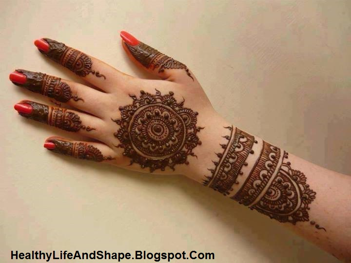 Round Flower Mehndi Designs : Round mehndi circle designs for hands healthy life and shape