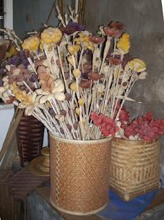 bamboo bucket and souvenier