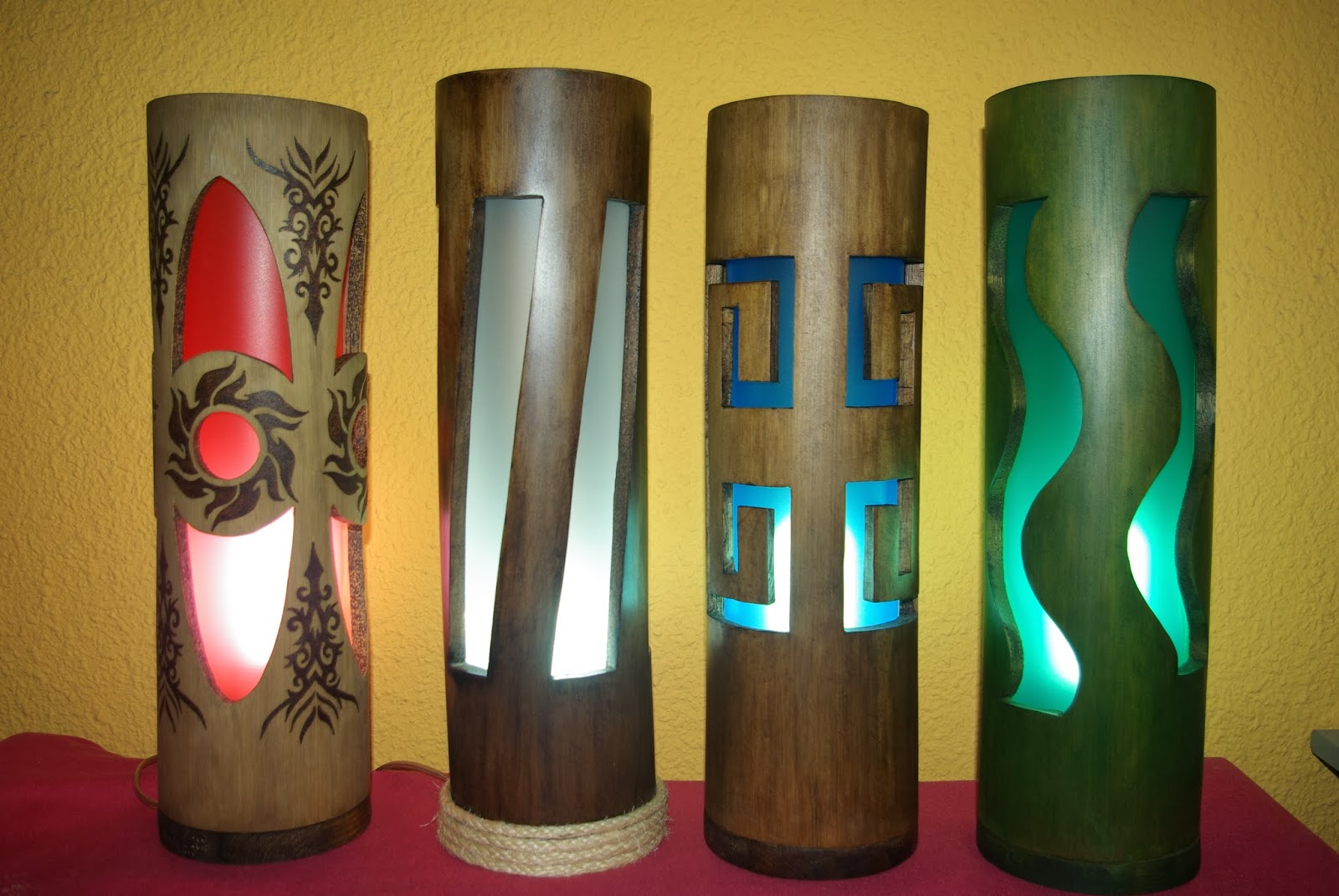 Tamarin2art lamparas de bamb 100 artesanales - Lamparas de pie artesanales ...