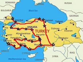 Mapa Turquia Fábia e Thijs 2014