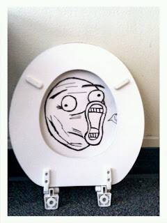 lol Meme in bathroom toilet