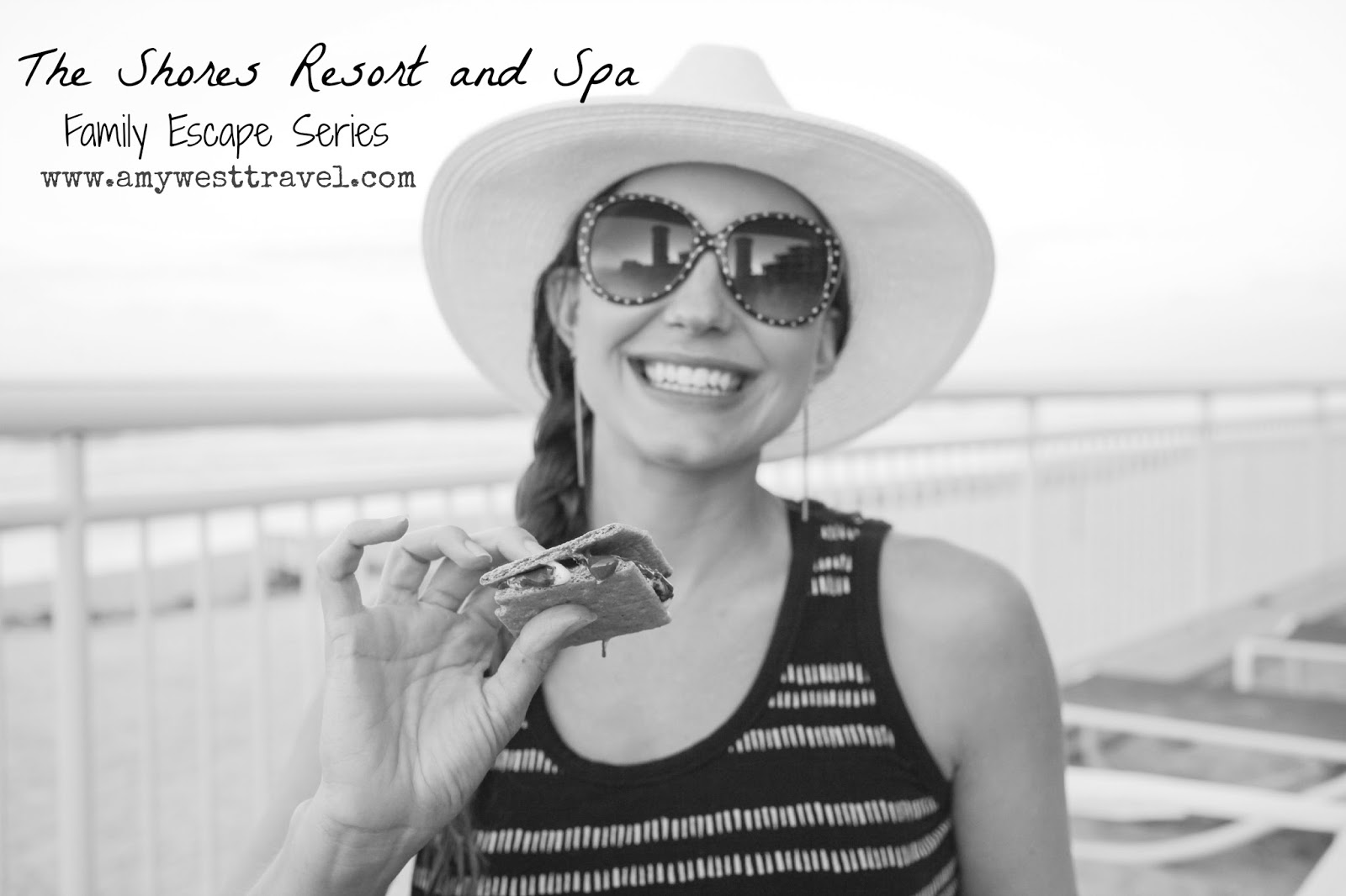 Amy West, travel blogger at The Shores Resort and Spa in Daytona