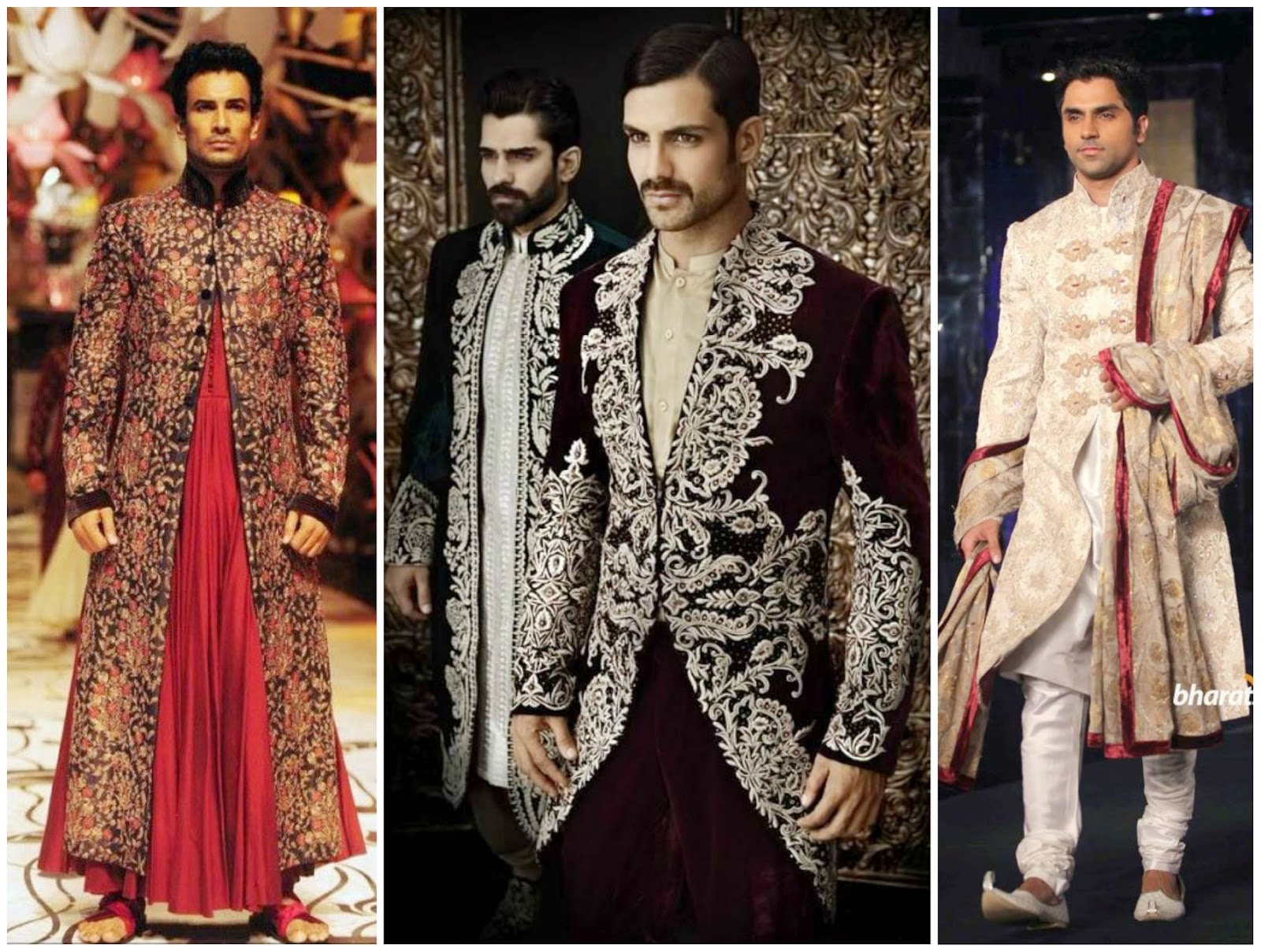 embroidered sherwani, heavy wedding work sherwani