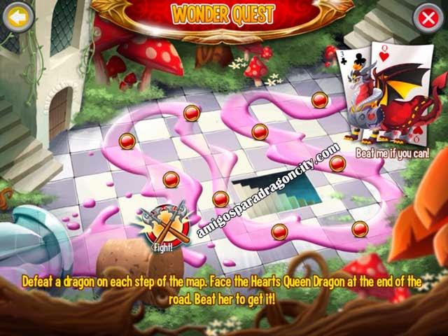 imagen del mapa de aventuras de la wonderland island de dragon city ios