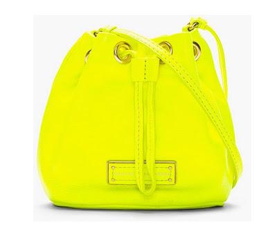 bolso neon amarillo