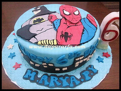 superman vs batman cake