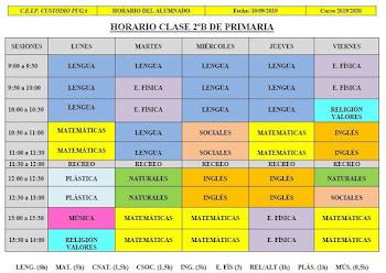 HORARIO DE 2ºB