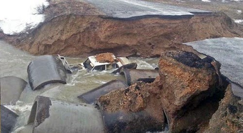 Kazakhstan flood damage