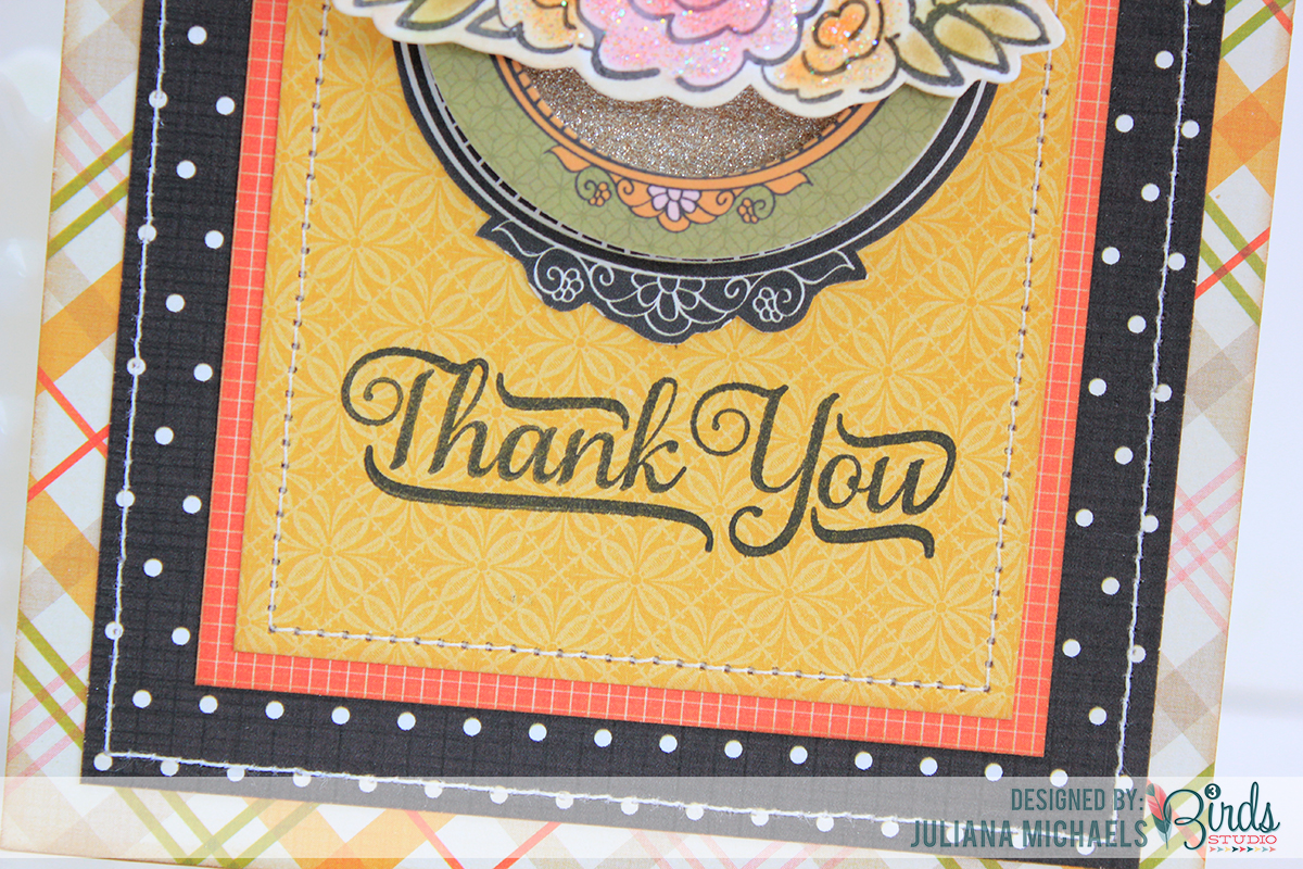 Thank You Card by Juliana Michaels using 3 Birds Design #3birdsdesign #middaymedley #thankyoucard