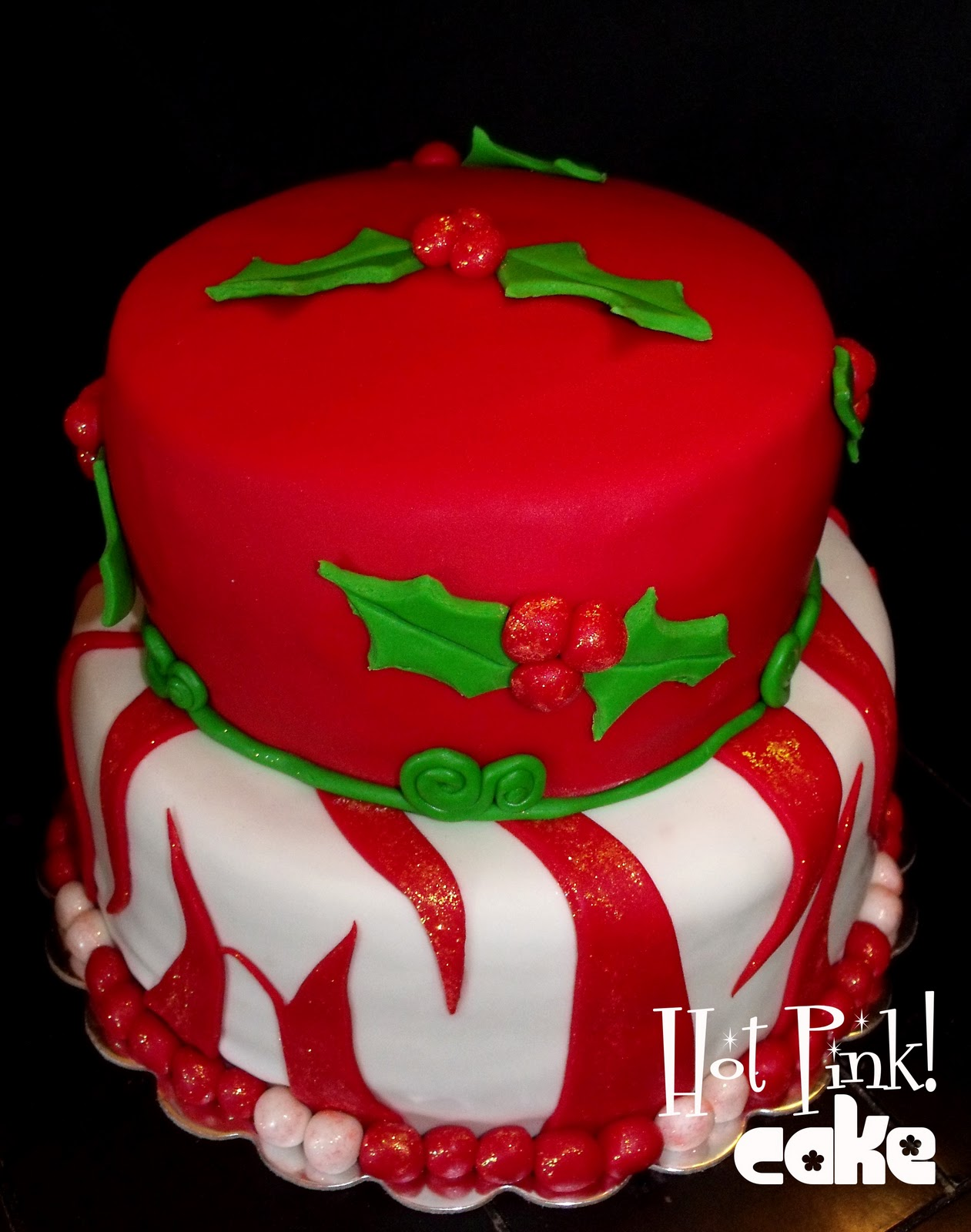 Hot Pink! Cakes: Christmas Birthday Cakes