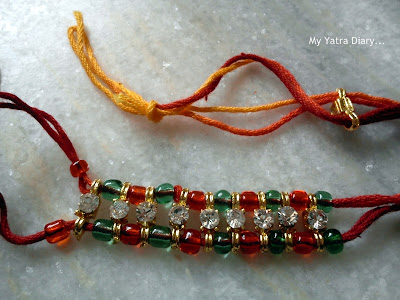 Colorful rakhi pattern sold in shop - Raksha Bandhan