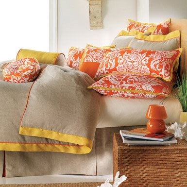 yellow orange wall bedroom yellow bedding bright vintage fun retro mod unique color combination teen decor wall spring summer idea colorful fun elegant Print It: The Better Sex Diet 11 yummy foods that can enhance your sex life