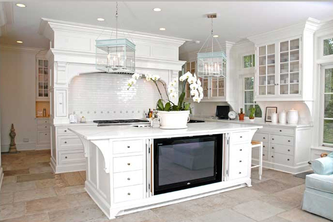 I Want To Attach My Tv To My Kitchen Island