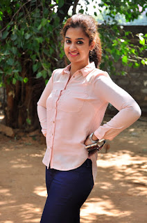 Nandita Raj in Blue Jeans and Pink Shirt