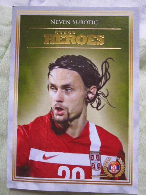 Neven Subotic Serbian and Borussia Dortmund star rates 82 on FIFA 14 Futera series 4 world cup Futera series 4 FWF online World Series Legends Superstars MemoPower Heroes Authograph Physical cards FIFA World Cup Brazil 2014 Football Soccer Sangju Sangmu FC  series 4 FWF online World Series Legends Superstars MemoPower Heroes Authograph Physical insert actual cards Real Madrid Barcelona Liverpool Chelsea Arsenal Manchester United Man U BPL Premier League Man of the Match MOTM MOM 100 club Topps Match Attax Roberto Baggio Zlatan Ibrahimovic printed actual Lionel Messi Football, Soccer, MLS