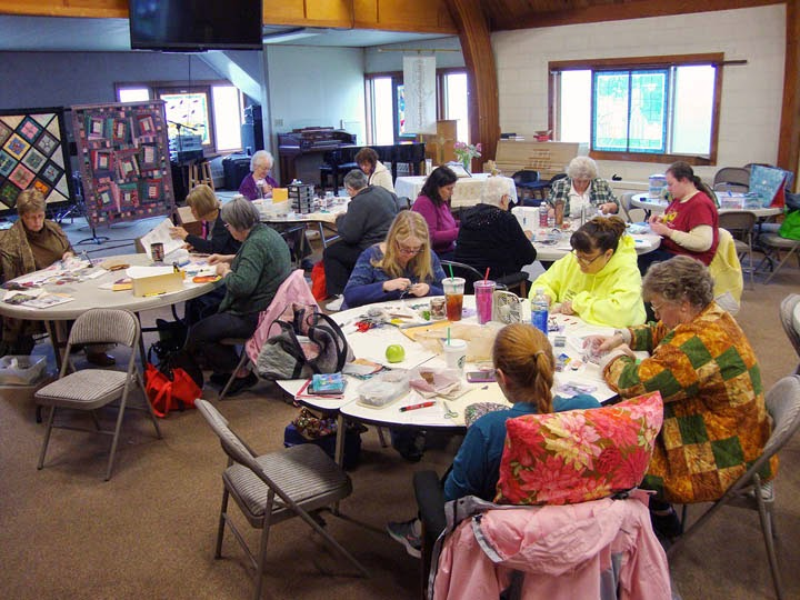 my students - Camano Island Quilters and 3 visitors
