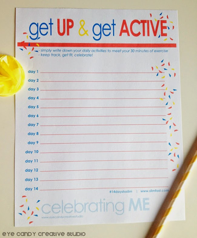 get up & get active tracker, free download, exercise tracker, confetti