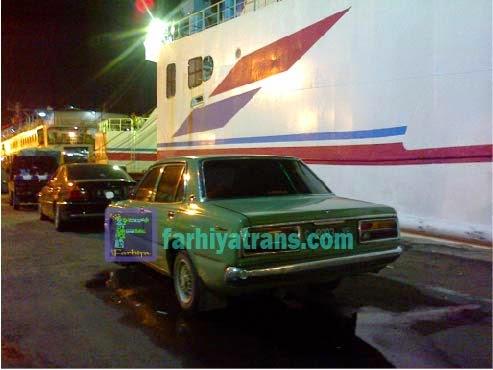 Pengiriman mobil sedan Corona dari Surabaya tujuan Banjarmasin dengan kapal roro