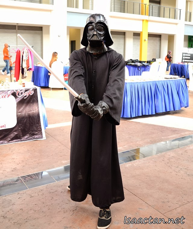 Darth Vader in his black sneakers ;)
